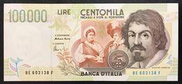 100000 Lire CARAVAGGIO 2° TIPO SERIE E 1998 Q.fds LOTTO 2397 - 100000 Lire