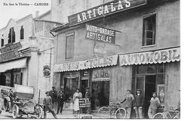 """CAHORS Garage """" ARTIGALAS """" - Armes - Cycles - Automobiles - En Face Le Théâtre Trés Animée TRES BON ETAT - Cahors"""