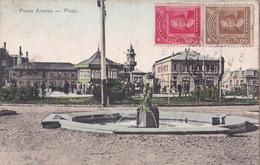 CPA  Chili - Punta Arenas - Plaza - 1909 - Chili