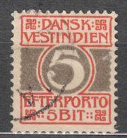 Denmark Danish Antilles (West India) 1905 Porto Mi#5 Yvert#5 Used - Denmark (West Indies)