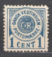 Denmark Danish Antilles (West India) 1902 Porto Mi#1 Yvert#1 Mint Hinged - Denmark (West Indies)