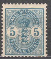 Denmark Danish Antilles (West India) 1900 Mi#22 Yvert#18 Mint Hinged - Dinamarca (Antillas)