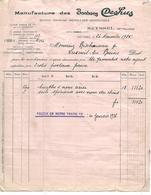 Facture 1925 / 74 SEYSSEL / DEGALLIER DESHUSSES / Manufacture De Bonbons DESHUS / VERNOIS Suisse GAND Belgique - 1900 – 1949