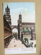 ITALY - Palermo - Cattedrale - Dettaglio Con Vista Della Via Matteo Bonello - Photochromiekarte 4085 - Palermo