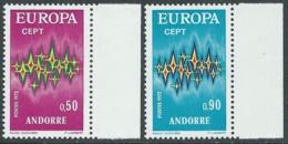 1972 EUROPA UNITA CEPT ANDORRA FRANCESE MNH ** - F10-10 - Europa-CEPT