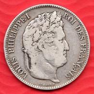 Pièce En Argent De 5 Francs LOUIS PHILIPPE 1833 - 24.61 Grammes - Tranche DIEU PROTEGE LA FRANCE - France