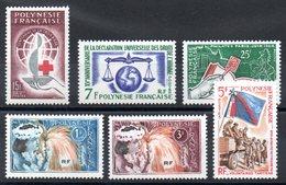 POLYNESIE - YT N° 24 à 29 - Neufs * - MH - Cote: 64,00 € - Polynésie Française