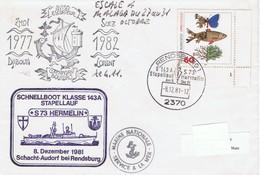 Aviso Escorteur Commandant BOURDAIS - Vedette Rapide S73 HERMELIN (Hermine) - Cachets Communs - Maritime Post