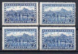 CZECHOSLOVAKIA  1926 , MNH/MH   ,ALL  WATERMARK  5,6,7,8 - Czechoslovakia
