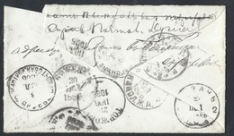 746d.Letter - Traveler.Mail 1880. 4 TPO, 1 Railway Station,4 Cities.Rarity. Baron. Minister. Railway Post.Russian Empire - 1857-1916 Empire