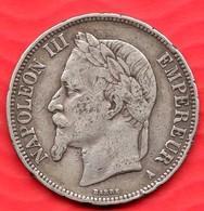 Pièce En Argent De 5 Francs NAPOLEON III - 24.68 Grammes - Tranche DIEU PROTEGE LA FRANCE - France