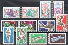 POLYNESIE - YT N° 60 à 71 - Neufs * - MH - Cote: 120,70 € - Polynésie Française