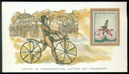 History Of Transportation Republique Du Mali The Bicycle Card - Transports