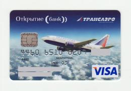 Bank Otkritie AVIO Transaero VISA EXPIRED 2003 - Cartes De Crédit (expiration Min. 10 Ans)