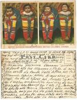 . Canada Native Americans - Skookum Indian Papooses , British Columbia Color PPC Used For Message - Indiens De L'Amerique Du Nord