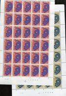 Belgie 1973 CEPT 1669/70 Arrow Volledig Vel MNH Plaatnummer  4-4 - Feuilles Complètes