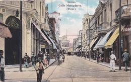 CPA - Pérou - Lima - Calle Mercaderes - 1925 - Pérou