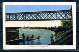 K10197)Ansichtskarte: Belgrad, Savebrücke - Jugoslawien