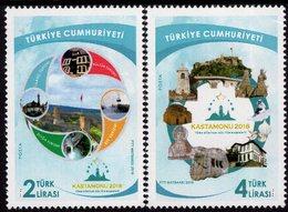 Turkey - 2018 - Castamonu - Cultural Capital Of Turkish World - Mint Stamp Set - 1921-... République