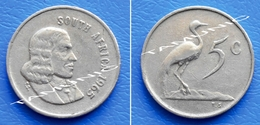 SOUTH AFRICA SUID AFRIKA 5 Cents 1965 BLUE CRANE (English Legend) - South Africa