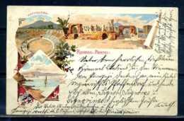 K10679)Ansichtskarte: Gruss Aus Pompei 1897 - Pompei