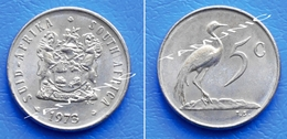 SOUTH AFRICA SUID AFRIKA 5 Cents 1973 BLUE CRANE - South Africa