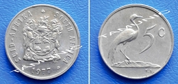 SOUTH AFRICA SUID AFRIKA 5 Cents 1977 BLUE CRANE - South Africa