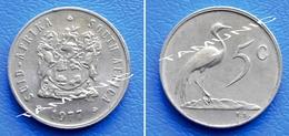 SOUTH AFRICA SUID AFRIKA 5 Cents 1977 BLUE CRANE - Afrique Du Sud
