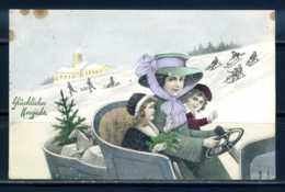 K11539)Grusskarte: Neujahr - Neujahr