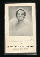 H.M. ASTRID KONINGIN DER BELGEN - STOCKHOLM 1905 - KUSSNACHT 1935  2 SCANS - Obituary Notices