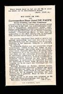 E.H. JOZEF DE PAEPE  - HUISE 1882 - GENT 1946 - Décès