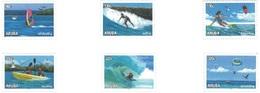 Aruba 2018, Water Sport, Surf, Kite Surf, Shipping, Rowing, 6val. - Antilles