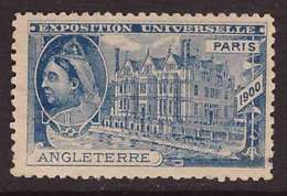 VIGNETTE 1900 Exposition Universelle Paris Angleterre - Erinnophilie