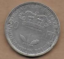 20 Francs Argent  35 FR-FL Pos B - 1934-1945: Leopold III