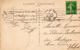 1938   CARTOLINA  CON ANNULLO  PARIS   + TARGHETTA - Francia