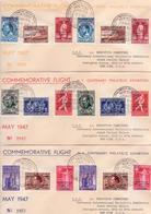 Poste Aérienne PA 18/23 + PA15A/23A Sur 3 Lettres Commemoratives - Airmail