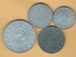 Albania - 2nd Issues -½, 1 & 5 Lekë (1957); 2 Lekë (1947) - KMs 35-38 - Albanie