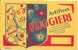 *** Buvard - Artifices RUGGIERI - Buvards, Protège-cahiers Illustrés