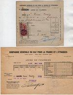 VP14.031 - Facture - Cie Générale Du Gaz Pour La France ...... Usine De FOURMIES - Electricity & Gas