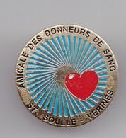Pin's Amicale Des Donneurs De Sang St Soule Vérines En Charente Maritime Dpt 17 Coeur Réf 4233 - Cities