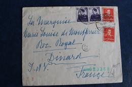 1942        LETTRE  POUR  DINARD  EN  FRANCE   AVEC  CACHET  DE  CENSURE  MILITAIRE ROUMAIN  ET  ALLEMAND    2  PHOTOS - Poststempel (Marcophilie)