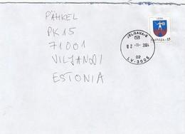 GOOD LATVIA Postal Cover To ESTONIA 2004 - Good Stamped: Coat Of Arms - Latvia