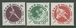 Japan 1962 Olympic Games Tokyo, Judo, Waterball Etc. Set Of 3 MNH - Summer 1964: Tokyo