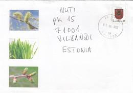 GOOD LATVIA Postal Cover To ESTONIA 2005 - Good Stamped: Coat Of Arms - Latvia