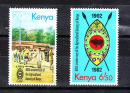 Kenya - 1982. Allevamento Bestiame E Emblema Dell' Agricoltura, Livestock Breeding And The Emblem Of Agriculture.MNH - Agricoltura