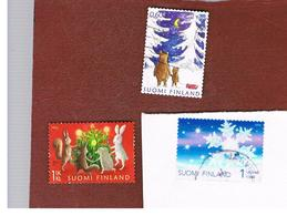 FINLANDIA (FINLAND) -  MI 1938.1940  -  2008 CHRISTMAS: COMPLET SET OF 3 (1 IS TRANSPARENT)     -       USED ° - Finlandia