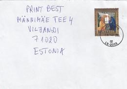 GOOD LATVIA Postal Cover To ESTONIA 2005 - Good Stamped: Christmas - Latvia