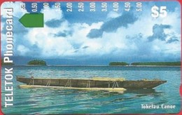 Tokelau - TK-TEL-0001, Anritsu, Trial Issue, Tokelau Canoe, 12/97, 5000ex, Mint - Schede Telefoniche