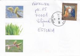 GOOD LATVIA Postal Cover To ESTONIA 2005 - Good Stamped: Christmas - Lettonie