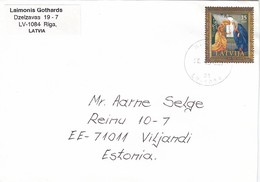 GOOD LATVIA Postal Cover To ESTONIA 2004 - Good Stamped: Christmas - Latvia